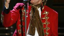 "British rock star Rod Stewart sings during the television show ""Wetten Dass..?"" in the Duesseldorf on November 4, 2006. (Reuters)"