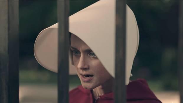 Alexis Bledel in The Handmaid's Tale.