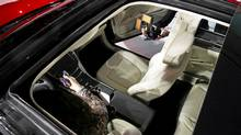 The retractable sky roof of the 2013 Lincoln MKZ. (SHANNON STAPLETON/REUTERS)