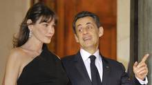 Carla Bruni, Nicolas Sarkozy in March, 2011 (PHILIPPE WOJAZER)