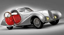 1938 Talbot-Lago T150-C SS Teardrop Coupe. Only 16 of the Talbot-Lago Teardrop Coupes were built. (Shooterz.biz ��2010 Courtesy of R/RM Auctions)