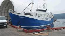 The Baffin Fisheries Coalition's Oujukoaq, a factory-freezer vessel, has a carrying capacity of 170 tons and a freezing capacity of 20 tons per day. (Baffin Fisheries Coalition)