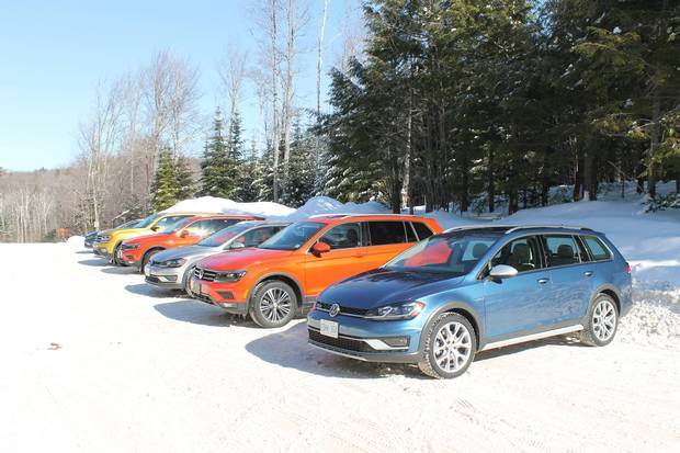 Volkswagen all-wheel-drive on a frozen lake in Quebec. Photos by Mark Richardson for IMG_0972.JPG