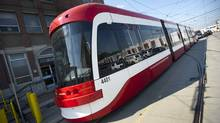 The new streetcars will accommodate 70 passengers seated and 181 standing. (Kevin Van Paassen/The Globe and Mail)