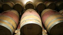 Barrels of wine in the cellar of Peller Estates in Niagara-On-The-Lake. (Glenn Lowson/The Globe and Mail)