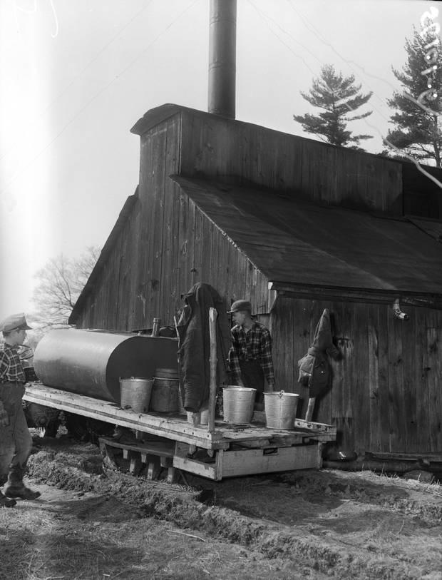 Tank wagon and evaporator house, 1956.