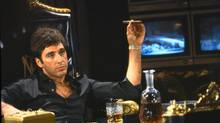 """Al Pacino portrays Tony Montana, a Cuban immigrant turned kingpin, in a scene from """"Scarface."""" In pop culture, gangsters have the upper hand, though they died for their transgressions (Associated Press)"""