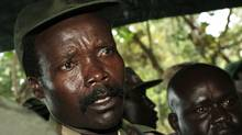 Joseph Kony, leader of the Lord's Resistance Army, speaking to journalists after a meeting with the UN humanitarian chief Ri-Kwamba in southern Sudan November 12, 2006. (Pool/Reuters/Pool/Reuters)