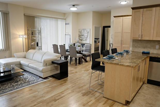 Tenants at Les Terrasses Francesca might pay a higher rent but they get more for their monthly payments, including higher-end finishes, Ms. Lépine-Willson says.