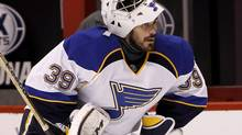 St Louis Blues goaltender Ryan Miller (Ralph Freso/The Associated Press)