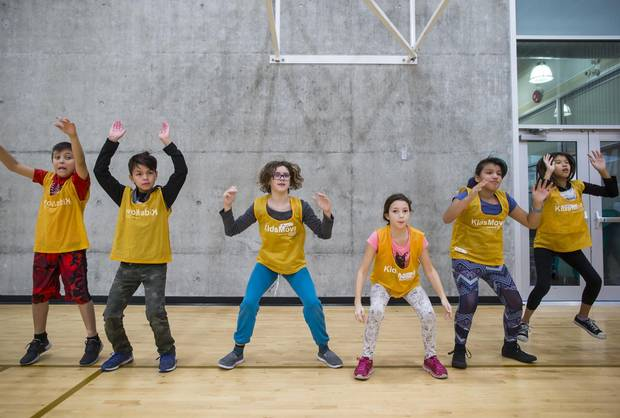 Grandview Elementary School students participate in the KidsMove program at the Fortius Sport & Health facility in Burnaby, B.C.