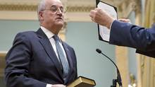 Conservative MP Julian Fantino is sworn in as minister of state for seniors during a cabinet shuffle at Rideau Hall in on Jan. 4, 2011. (Sean Kilpatrick/THE CANADIAN PRESS)