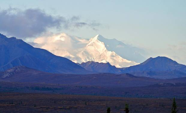 Denali, a white giant 380 kilometres north of Anchorage, Ala., is the world's tallest mountain when measured base to summit, with a vertical rise greater than Mount Everest's.