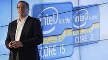 Intel CEO Paul Otellini talks during the company's unveiling of its second generation Intel Core processor family during a news conference at the Consumer Electronics Show (CES) in Las Vegas January 5, 2011. (RICK WILKING/REUTERS)