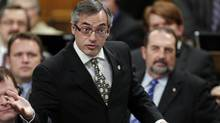 Minister of Industry Tony Clement speaks during Question Period in the House of Commons on Parliament Hill in Ottawa September 29, 2010. (BLAIR GABLE/REUTERS)