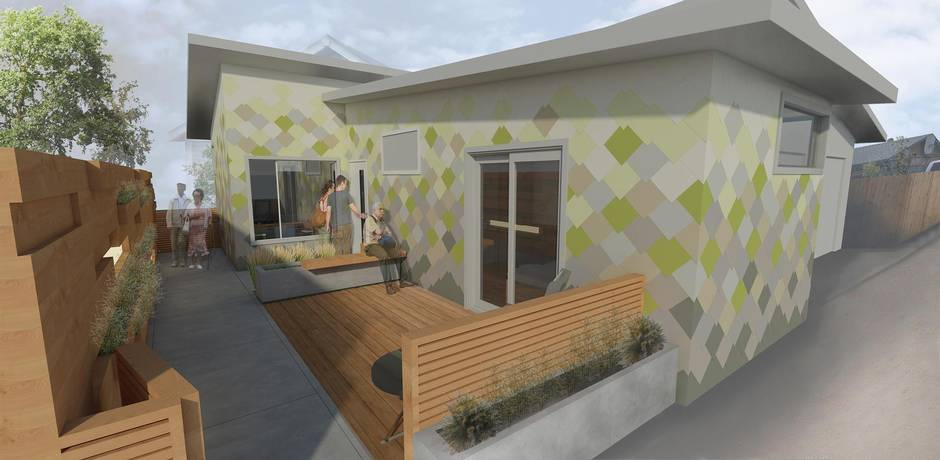 Rendering Of A Home With Alterations Geared To Senior Residents University Calgary Faculty Environmental Design