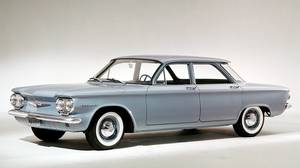 1960 Chevrolet Corvair 500 4-Door: The Corvair was introduced in 1960 as a showcase for mechanical innovation: the engine was in the back, and it was cooled by air instead of water.