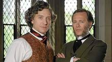 "Shawn Doyle (left) as John A. Macdonald and Peter Outerbridge as George Brown in ""John A: The Birth of a Country"""