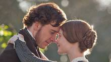 Michael Fassbender, left, and Mia Wasikowska are shown in a scene from Jane Eyre. (Laurie Sparham / AP/Laurie Sparham / AP)