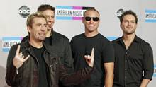 Nickelback in Los Angeles, Nov. 20, 2011. (Danny Moloshok / Reuters)