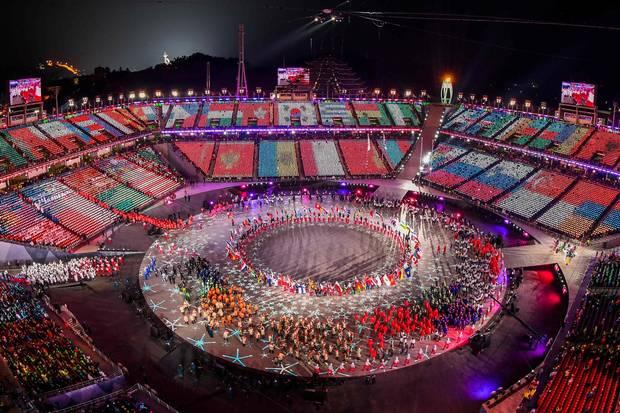 Image result for closing ceremony olympics 2018