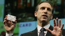 "Howard Schultz, chief executive of Starbucks Corp., has accused hedge fund manager Bill Ackman of being a ""destroyer of companies."" (Ted S. Warren/AP)"