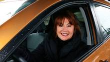 Mary Walsh in her new Toyota Matrix in St. John's, NL