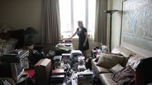"Sandy Lupton, a self-described ""compulsive hoarder"" in her appartment in Surrey, B.C. on July 12th, 2011. (Simon Hayter For The Globe and Mail)"