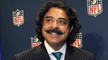 New Jacksonville Jaguars owner Shahid Khan concludes a news conference at the NFL owners meeting in Irving, Texas, Wednesday, Dec. 14, 2011. (LM Otero/Associated Press)
