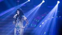 """Cher performs at the Air Canada Centre in Toronto during her """"Dressed to Kill"""" tour on Monday, April 7, 2014. (Peter Power for The Globe and Mail)"""