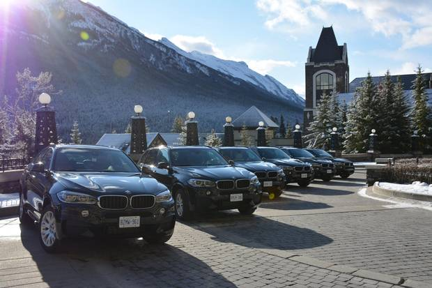 Driving The Icefields Parkway Through The Rockies In A Bmw
