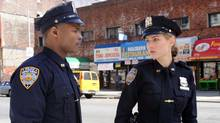 "Leelee Sobieski and Harold House Moore in a scene from the pilot episode of ""NYC 22"" (David M. Russell/CBS)"