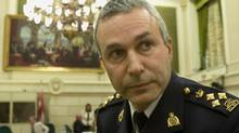 Raf Souccar, then Assistant Commissioner of the RCMP, leaves after testifying before the Commons public safety committee on June 10, 2008. (Tom Hanson/The Canadian Press)