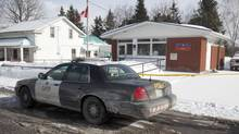 Post office in Tamworth Ontario part of crime scene in double shooting February 27, 2014. (FRED THORNHILL FOR THE GLOBE AND MAIL)