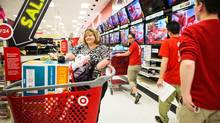 Andrea Russell, shops at Target in Tonawanda, N.Y., at 3 a.m. on Black Friday. (JENNIFER ROBERTS FOR THE GLOBE AND MAIL)