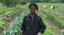 Audrey McDonald one of the latest incubator farmers supported by FarmStart -- a non-profit that encourages new generations of young farmers. (Augusta Dwyer for The Globe and Mail/Augusta Dwyer for The Globe and Mail)