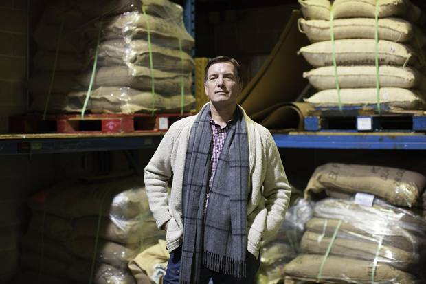 Owner of JJ Bean John Neate is photographed in the JJ Bean Coffee Roasters warehouse in Vancouver. There are now 19 JJ Beans in the Vancouver area and the company has opened its first four locations in Toronto.