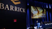 Annual General Meeting of Barrick Gold, at the Metro Toronto Convention Centre, April 24, 2013. The world's biggest gold miner has a new headache: A key debt analyst is advising investors to take a pass on the company's bonds. (Fernando Morales/The Globe and Mail)