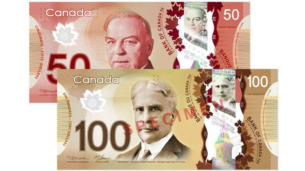 William Lyon Mackenzie King (top) Sir Robert Borden are being replaced on the $50 and $100 bills.