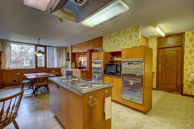 The kitchen is a good example of the futurism found in many high-end MCM homes.
