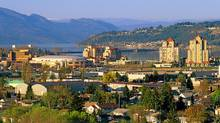 For its size, Kelowna, B.C., boasts a large media market. (Brian Sprout for The Globe and Mail)