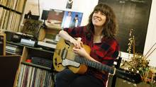 Singer-songwriter Julie Doiron at Saving Gigi coffee shop in Toronto. (Peter Power/The Globe and Mail)