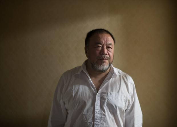 Chinese artist Ai Weiwei is photographed on Sept 27 2017. Human Flow is Weiwei's film about the refugee crisis with the artist travelling to twenty three countries.