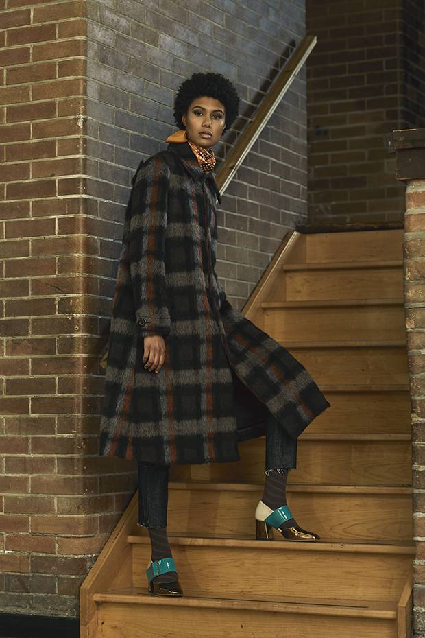 The brushed Tres coat by Comrags is an instant wardrobe staple.