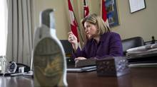 Ontario NDP leader Andrea Horwath is seen in her office in Toronto, Wednesday, November 14, 2012. (Kevin Van Paassen/The Globe and Mail)