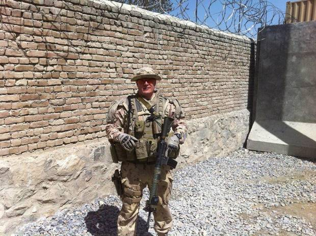 Cpl. Scott Smith on duty in Afghanistan in 2012. He was part of a contingent of Canadian troops based in Kabul, working with Afghan security forces.