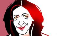 Detail of caricature of Louise Doughty (ANTHONY JENKINS FOR THE GLOBE AND MAIL)