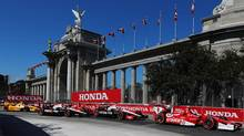 Scott Dixon won both races of the double header at last year's Toronto Indy. (Michelle Siu/THE CANADIAN PRESS)