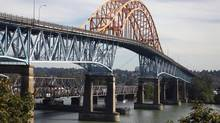 A new Pattullo Bridge in New Westminster, B.C., is part of the regional mayors' proposed transit plan. (Jeff Vinnick For The Globe and Mail)