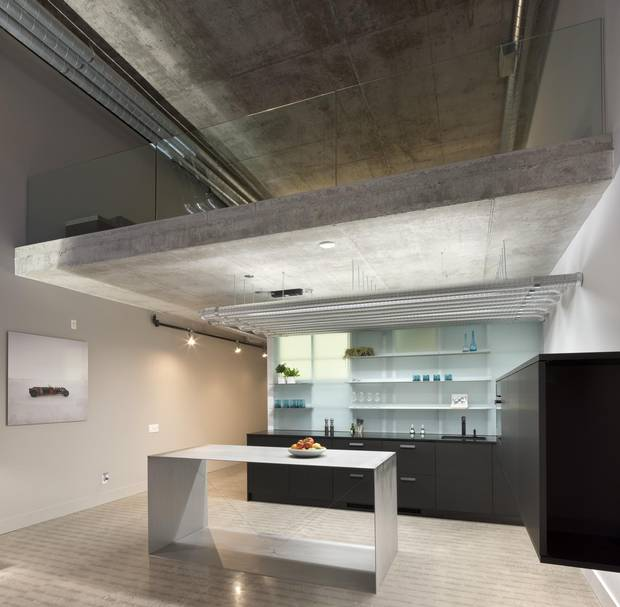 Nima Rafizadeh's condo in the Toy Factory Lofts, Toronto. Design by Delnaz Yekrangian of Aleph-Bau.